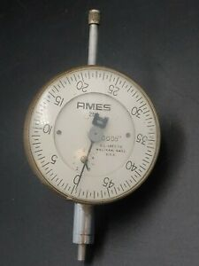 """AMES Dial Gauge No.284 Dial Indicator 1.000"""" by.0005"""""""