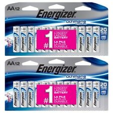 24 Energizer Ultimate Lithium AA - SET OF (2) 12 CT Universal Battery L91SBP12