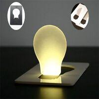 Portable Delicate Pocket Bulb Credit Card Size Night Light Lamp Wallet LED