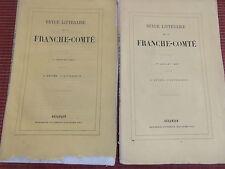 PLAQUETTE REVUE LITTÉRAIRE DE LA FRANCHE COMTE 1865   ( ref 42 )
