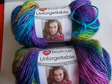 Red Heart Boutique Unforgettable yarn, Gossamer, lot of 2 (270 yds each)