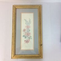 Mary Bertrand Flower Bunch Watercolor Print Framed Signed 1610/2900 Louisiana