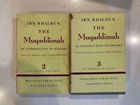 Ibn Khaldun Muqaddimah Vol.2 & Vol. 3 - POOR CONDITION RARE BOOKS SEE PICS