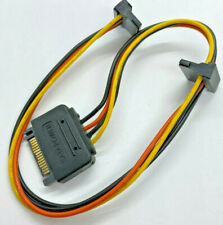 15-Pin SATA to 2x 90 Degree Right Angle Y-Splitter Power Connector Adapter Cable