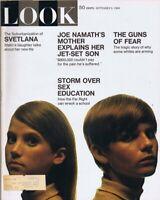 ORIGINAL Vintage Look Magazine September 9 1969 Joe Namath