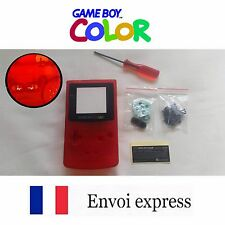 Coque GAME BOY color crystal rouge NEUF NEW + tournevis triwing -étui shell case