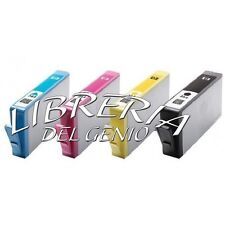 4 CARTUCCE PER HP 364 XL CON CHIP OfficeJet 4620 OfficeJet 4622 e-AiO NUOVE
