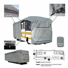 Deluxe 4-Layer Class A RV Motorhome Cover Fits 21'-22'L With Zipper Door Access