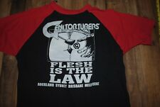 Rare Genitorturers Flesh is the Law T-Shirt Small Industrial Goth BDSM