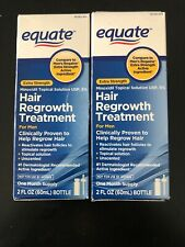 2..NEW Equate Men's Extra Strength  Hair Regrowth 1 Month, New Open Box !!
