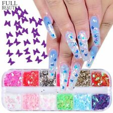 3D Butterfly HolographicNail Art Nail Sequins Glitter Accessories 12/set
