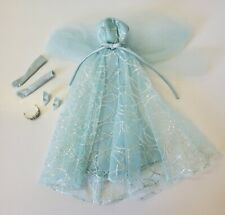 2001 Barbie Collector Edition Blue Dress Beautiful De-boxed Gloves Tiara Heels!