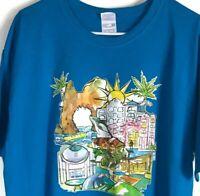 Yazbek Los Cabos Mexico Short Sleeve T Shirt Mens Size XL Blue