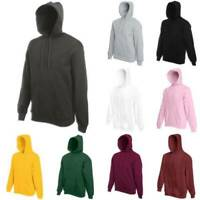 Vicabo Men's Women's Hooded Sweatshirts Coats Solid Design Hoodie Blank Pullover