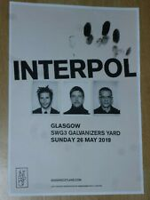 Interpol - Glasgow may 2019 live music show tour memorabilia concert gig poster