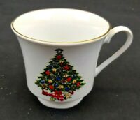 Sea Gull Fine China Christmas Tree Coffee tea  Cup White with Gold Rim