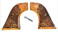 Fits Ruger Wrangler Grips ~ .22 Model ~ Rosewood Carved Scroll Gentleman NEW