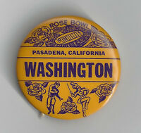 1960 Washington Huskies Rose Bowl button pin original vintage NCAA football