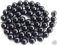 "New!8mm Beautiful Black Onyx Round Beads 15"""