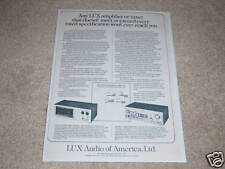 Luxman M-4000 Amplifer,C-1000 Preamp Ad,1975,article
