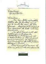 LETTRE AUTOGRAPHE SIGNE OTTO O'MEARA grand collectionneur 1911