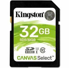 32GB - Kingston SD SDHC Class 10 Flash Memory Camera Card SDS/32GB