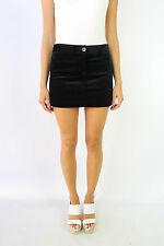 THEORY Black Velvet Mini Skirt Size US0 (fits AU6)