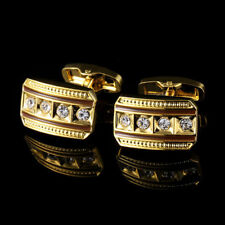 New Gold Diamond French Cufflinks Men's French Button Shirts Cuff Links 07#