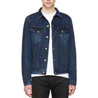 Nudie Herren Slim Fit Denim Jeans Jacke Organic |Billy Deep Indigo | Gr. S/M