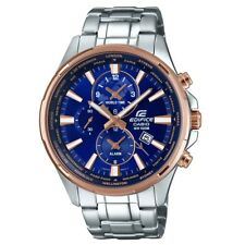 Casio EFR-304PG-2AVUEF Mens Edifice World Time Silver Steel Watch RRP £160