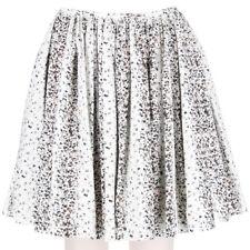Alaia White Panther Patterned Circular Skater Skirt FR36 UK8