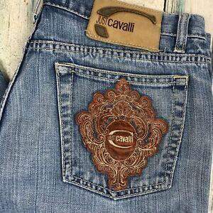 Just Cavalli Italian Patch Pocket Antique Wash Jeans - Size 36