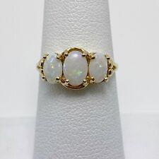 Natural Australian Opal 10k Gold Ring (6649)