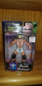 WCW BIG POPPA PUMP SCOTT STEINER WRESTLING FIGURE VARIANT PACKAGING MOC WWE TNA