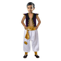 Boys Prince Aladdin Costume Arabian Fancy Dress Kids Disney Outfits Party 4-10 Y