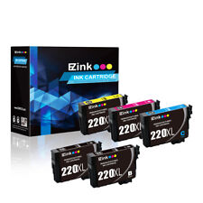 5P for 220XL Black & Color High Yield Ink Cartridges fit Epson WorkForce WF-2750