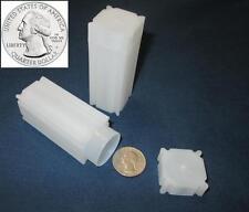 5 Quarter Square Coin Tubes  Archival Quality  Quarters