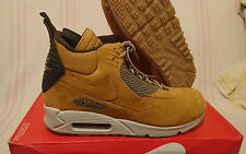 Size 9 Nike Air Max 90 Sneakerboot Winter Waterproof Wheat ACG 684714 700 Mens
