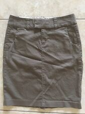 Gap Women's Olive Green Back Slit Stretch Skirt Size 4