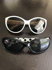 Hello Kitty Sunglasses Child Girls Black White Polka Dots - Lot of Two