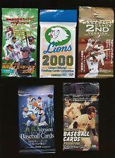 Japanese Baseball 15 assorted packs 1992-2006