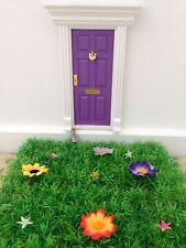 Purple Wooden Fairy Door with Magic Key, Fairy Dust and Fairy Garden
