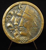 Medal Hugues Capet Sacred King of Francs 987 Num 229/250 Dynasty Capetian