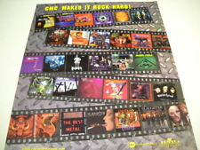 CMC 1999 Promo Poster Ad DOKKEN Over Kill SAXON Nazareth MOTORHEAD Slaughter