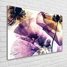 Glas-Bild Wandbilder Druck auf Glas 100x70 Blumen & Pflanzen Trockene Mohnblumen
