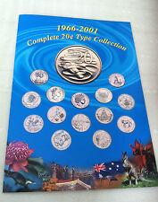 1966 - 2001 UNC 20c AUSTRALIAN 14  COIN COLLECTION SET EXCELLENT CONDITION!!!!