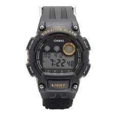 Casio W735HB-1AV Super Illuminator Vibration Alarm Black Nylon Band Men's Watch