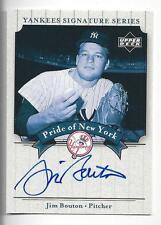 Jim Bouton 2003 UD Yankees Signature Series Auto Card