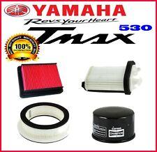 KIT 3 FILTRI ARIA + 1 FILTRO OLIO YAMAHA T-MAX TMAX 530 2012 2016 PER TAGLIANDO