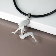 NEW Silver Chrome Stainless Steel Sexy Lady Women Hip Hop Mens Pendant Necklace